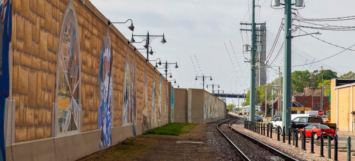 Cape Girardeau Wall Paint Railroad